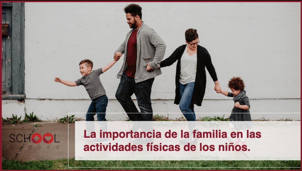 La importancia de la familia en las actividades físicas de los niños