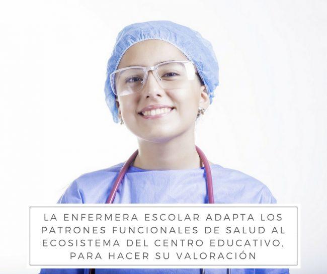 la enfermera escolar utiliza patrones funcionales de salud