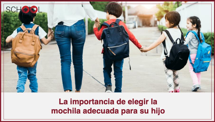 La importancia de elegir la mochila adecuada para su hijo