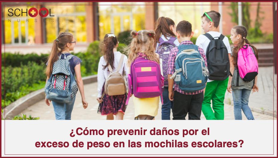 ¿Cómo prevenir daños por el  exceso de peso en las mochilas escolares?