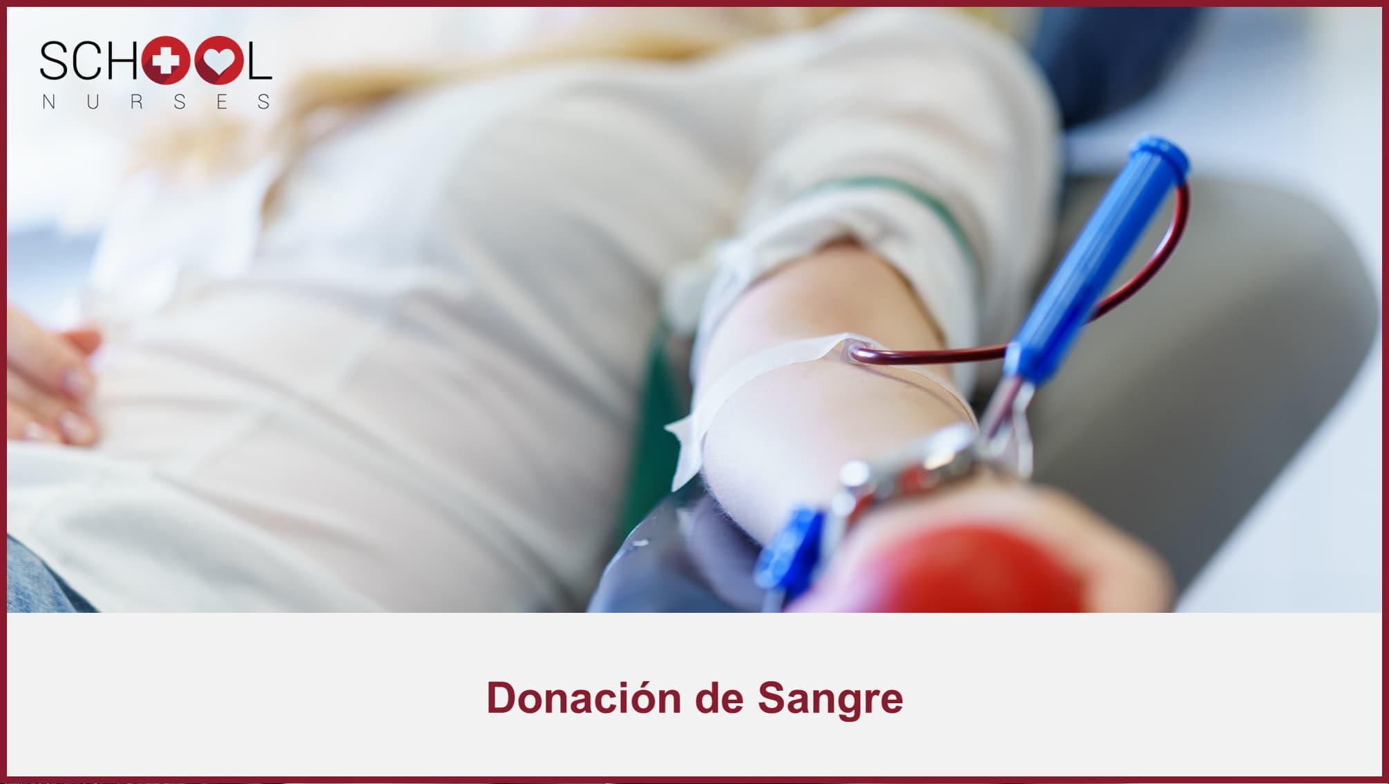 Importancia de donar sangre