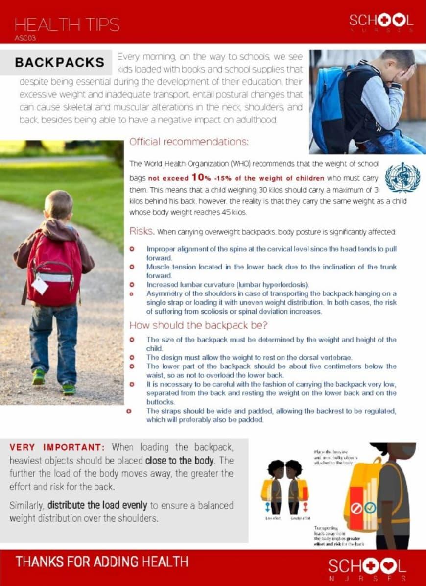 Backpacks Health