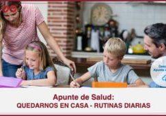 QUEDARNOS EN CASA RUTINAS DIARIAS