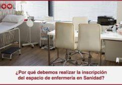 Inscripción del espacio de enfermería en Sanidad